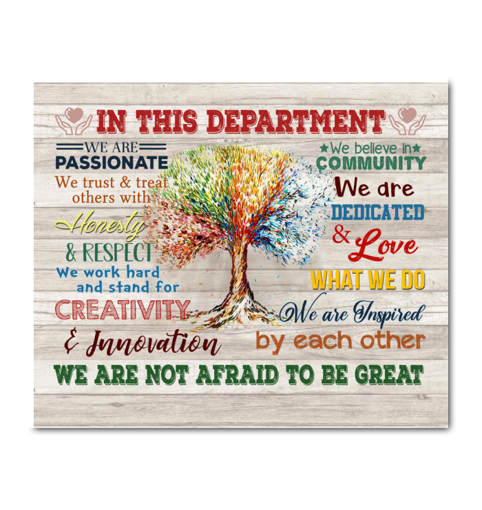 In This Department Canvas We Are Not Afraid To Be Great Ver.5 - Hayooo Shop
