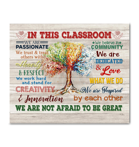 In This Classroom Canvas We Are Not Afraid To Be Great Ver.5 - Hayooo Shop