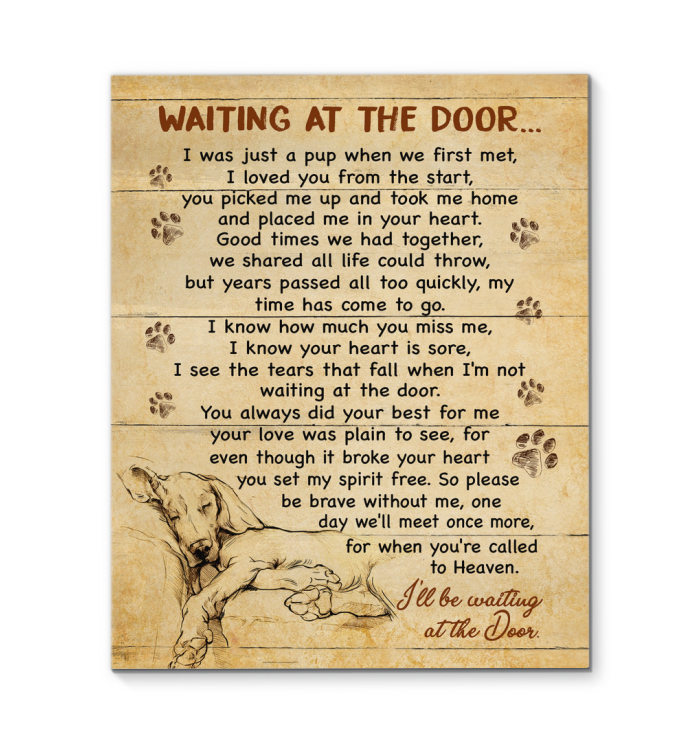 GL - Canvas - Golden Retriever - Waiting At The Door