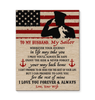 CANVAS - Navy Husband - Wherever your journey in life may take you - yenyenstore