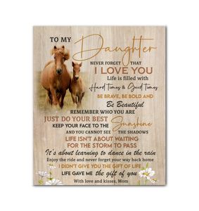 Canvas Horse To My Daughter