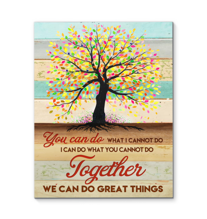 Teamwork Canvas Together We Can Do Great Things Ver.2