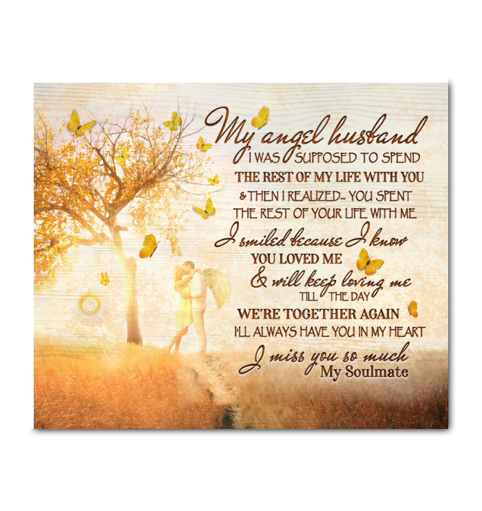 Canvas Butterfly My Angel Husband - Hayooo Shop