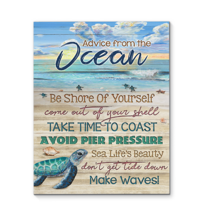 Canvas Turtle Advice From The Ocean