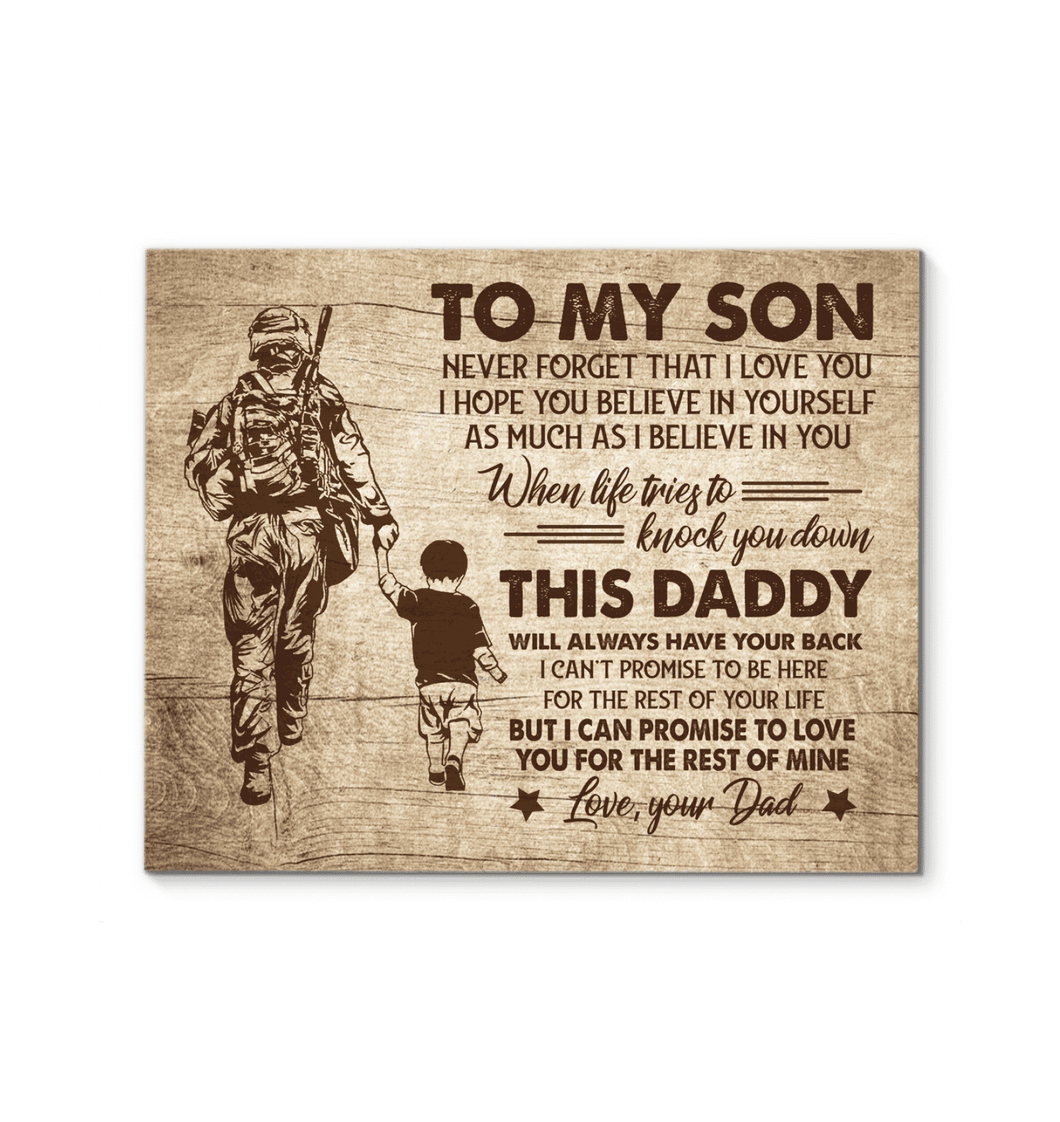 CANVAS - Veteran - To my son - I have your back - yenyenstore