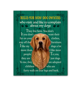 Canvas Golden Retriever Rules For Nondog Owners