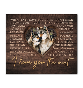 Canvas Wolf I Love You The Most Ver4 - Hayooo Shop