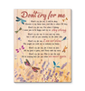 Dragonfly Canvas Don'T Cry For Me - Hayooo Shop