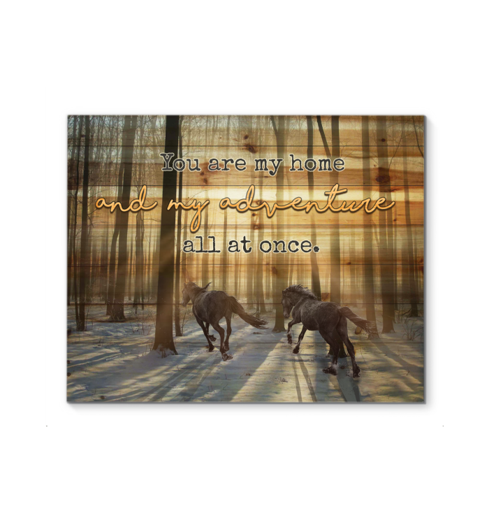 Canvas Horse You Are My Home - Hayooo Shop