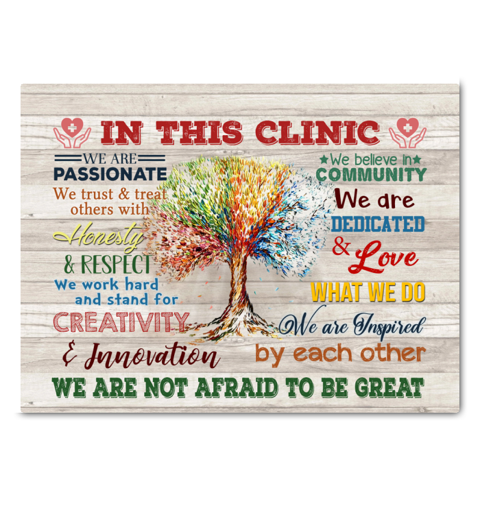 IN THIS CLINIC - Canvas - We are not afraid to be great Ver.5