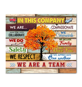 IN THIS COMPANY - Canvas - We are a team Ver.2