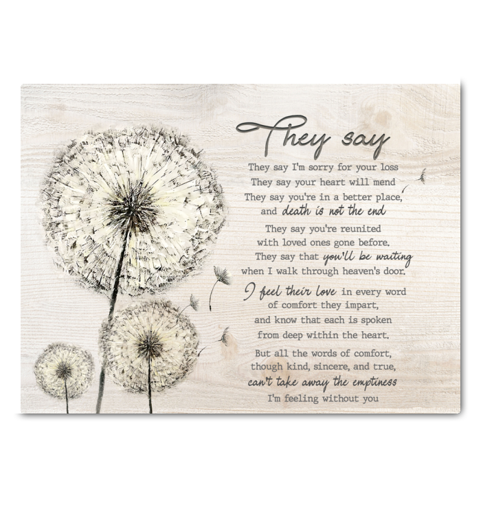 Dandelion Canvas They Say - Hayooo Shop