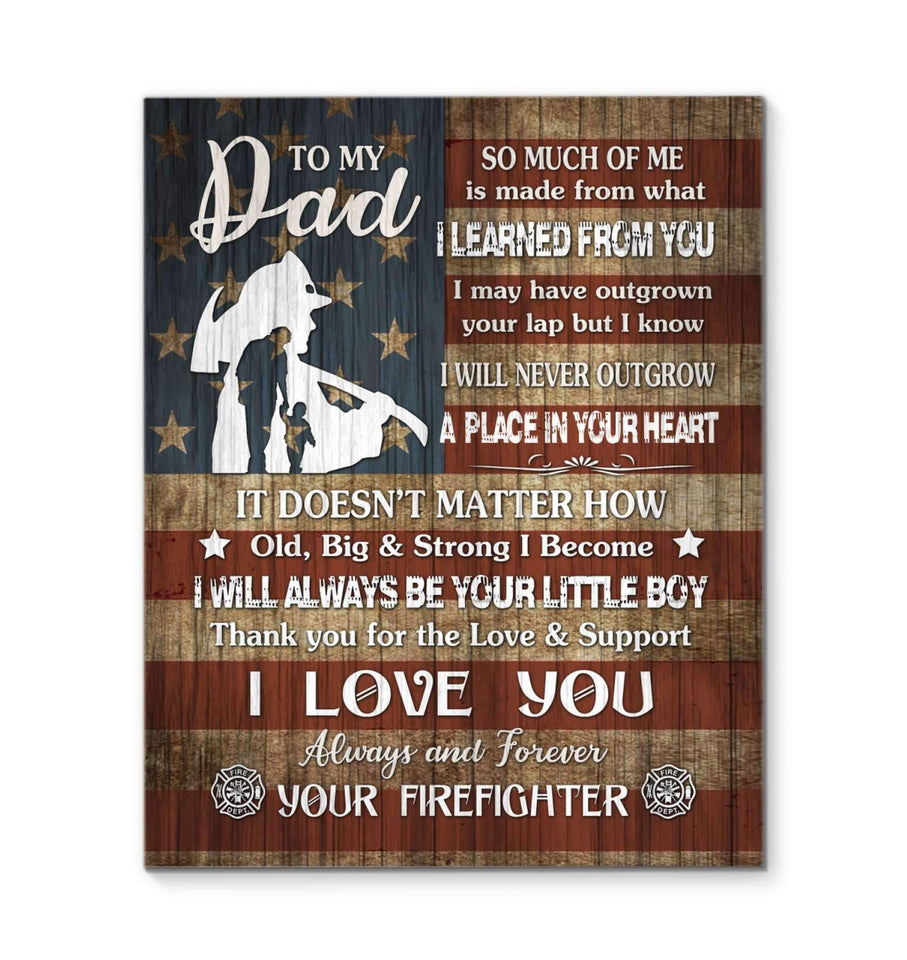 CANVAS - Firefighter - Dad - I love you - yenyenstore