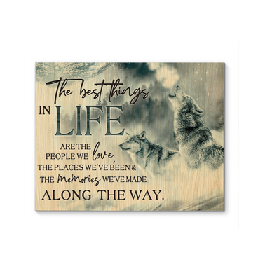 Canvas Wolf The Best Things In Life - Hayooo Shop