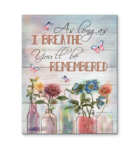 Canvas Butterfly As Long As I Breathe - Hayooo Shop