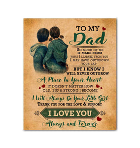 CANVAS - DAD - I will always be your little girl - yenyenstore