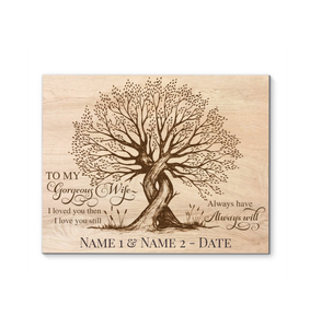 Customized Names And Date To My Gorgeous Wife Canvas I Love You Still - Hayooo Shop