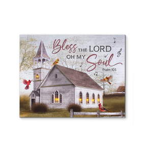 Canvas Cardinal & Church Bless The Lord