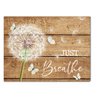 Canvas Dandelion & Butterfly Just Breathe 2