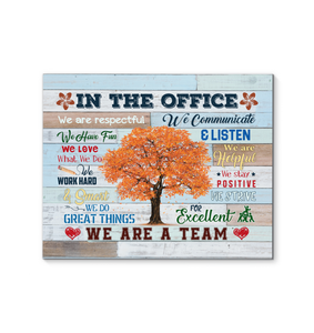 GL - Canvas - In This Office - We Do Great Things - We Are A Team