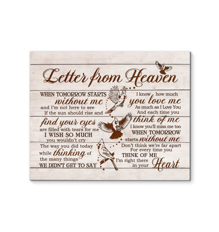 Hay Canvas Cardinal Letter From Heaven - Hayooo Shop