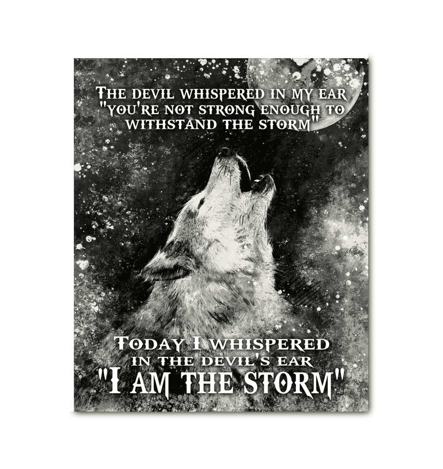 CANVAS - WOLF - I am the Storm - yenyenstore