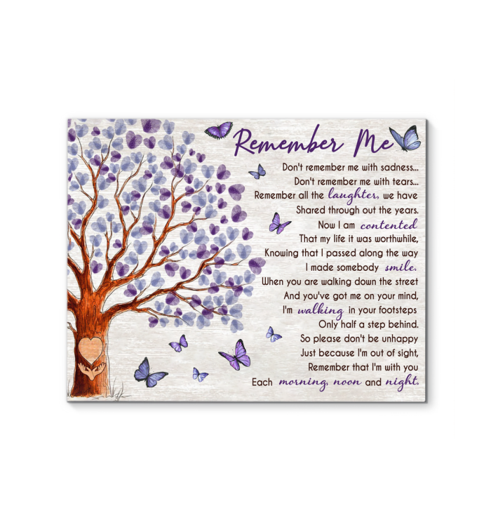 Canvas Butterfly Remember Me - Hayooo Shop
