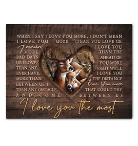 Canvas Buck&Doe I Love You The Most Ver3 - Hayooo Shop
