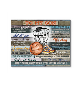 Gl Basketball Canvas To My Son Life Is Short