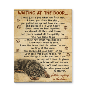 GL - Canvas - Rottweiler - Waiting At The Door