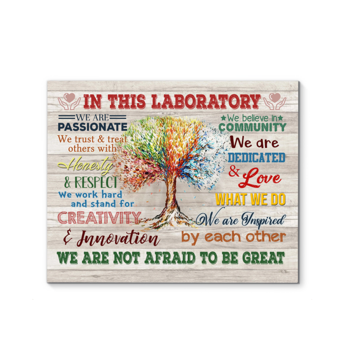 IN THIS LABORATORY - Canvas - We are not afraid to be great Ver.5