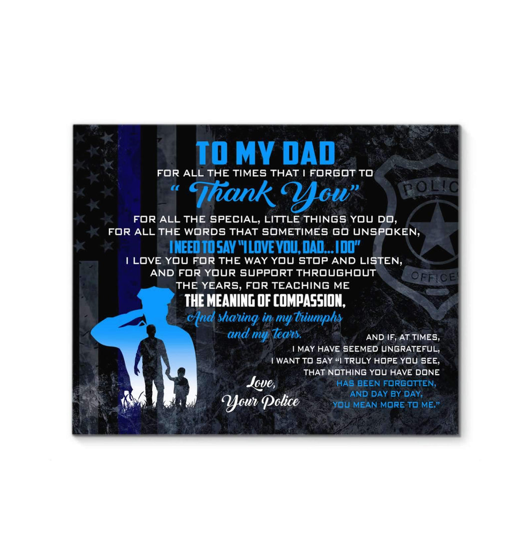 CANVAS - Police - Dad - Thank You - yenyenstore