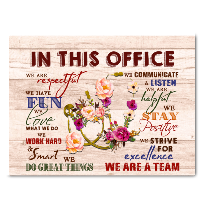 Stethoscope In This Office Canvas We Love What We Do Ver.2 - Hayooo Shop