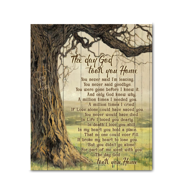 Hay Canvas The Day God Took You Home - Hayooo Shop