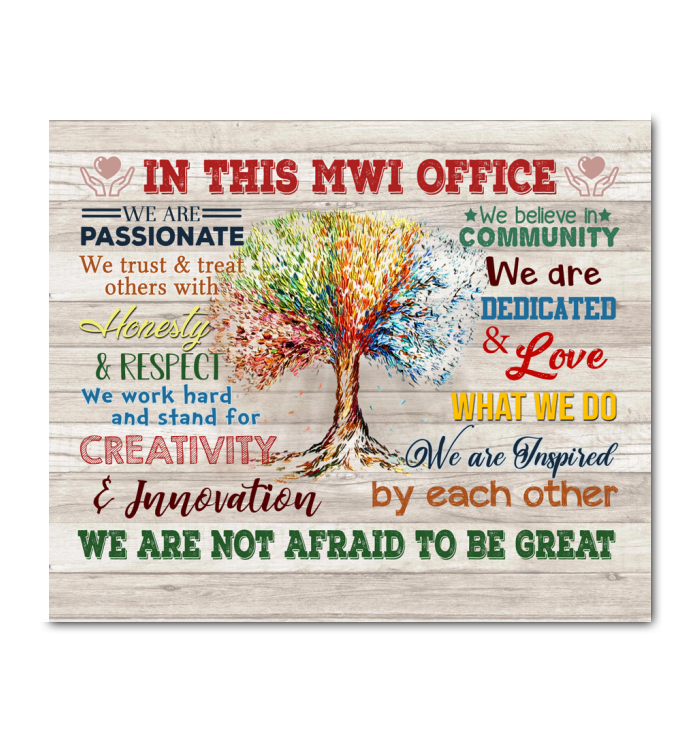 Custom Canvas In This Office We Are Not Afraid To Be Great Ver.5 (In This Mwi Office)