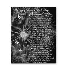 CANVAS - In Loving Memory of a Very Special Wife - yenyenstore