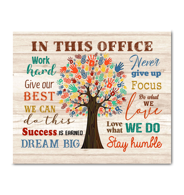 In This Office Canvas Give Our Best Ver.2 - Hayooo Shop