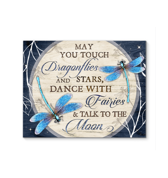 Canvas Dragonfly May You Touch... - Hayooo Shop
