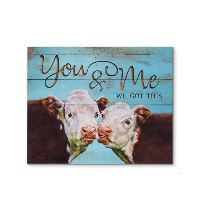 Gl Canvas Cow You & Me