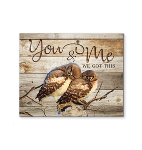 Canvas Owl You & Me