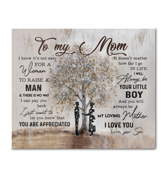 TO MY MOM - Canvas - You are appreciated