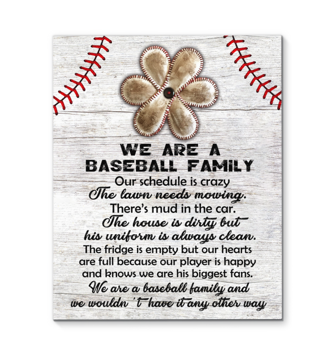 CANVAS - Baseball - We are a baseball family