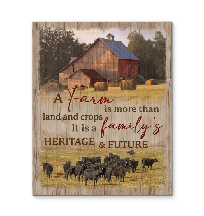 Canvas Cow Family'S Heritage And Future