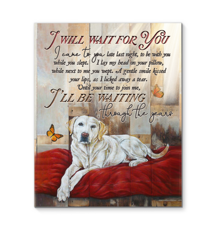 Canvas Dog I'Ll Wait For You - Hayooo Shop