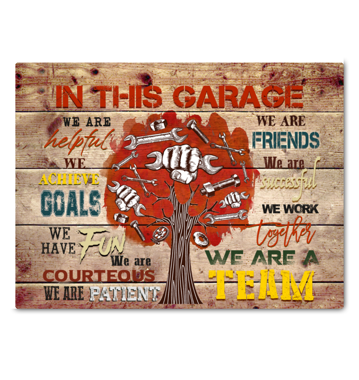 IN THIS GARAGE - Canvas - We are a team Ver.4