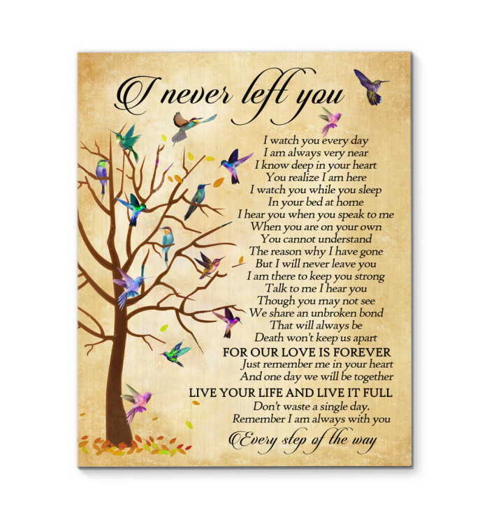 Gl Canvas Hummingbird I Never Left You - Hayooo Shop