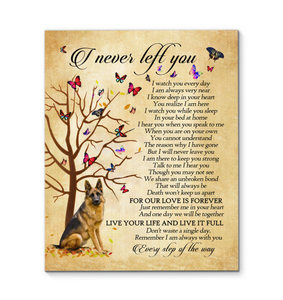 Gl Canvas German Shepherd I Never Left You - Hayooo Shop