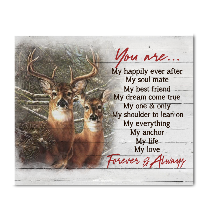 Gl Canvas Buck&Doe You Are Forever And Always - Hayooo Shop