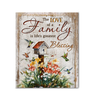 Canvas Hummingbird The Love Of A Family