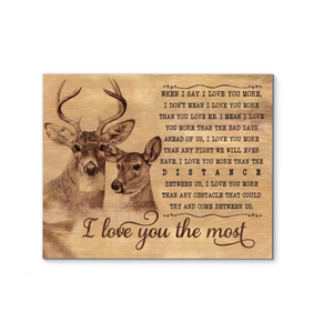 Gl Canvas Buck&Doe I Love You The Most - Hayooo Shop